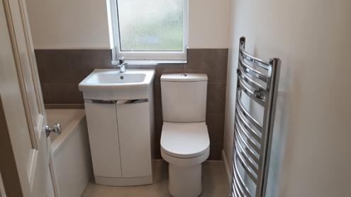 Half Tiled_Bathroom_Toilet and Wash Basin